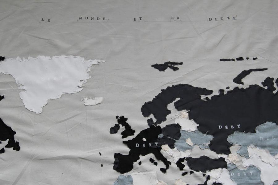 Le monde et la dette, Detail, D+T Project, Brussels, 2015